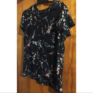 Floral Short Sleeve Blouse